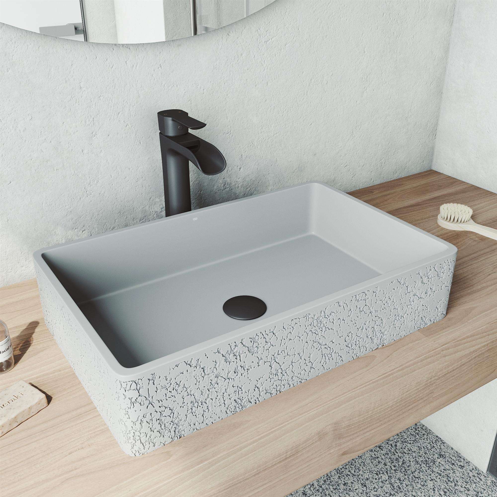 Cast Stone Vessel Bowl Bathroom Sink