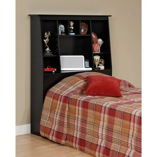 Laurel Creek Ada Black Twin Tall Slant-back Bookcase Headboard