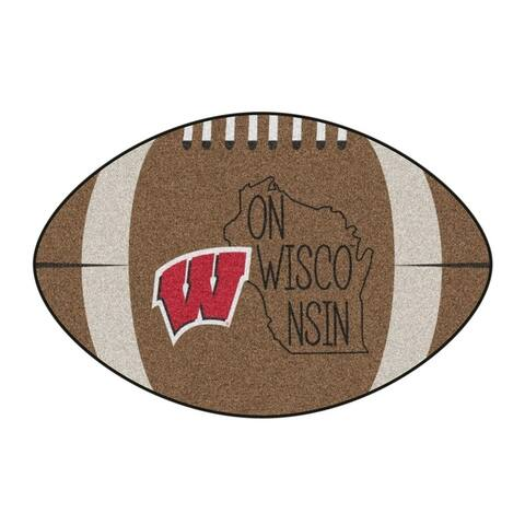 """Wisconsin Southern Style Football Rug 20.5""""x32.5"""""""