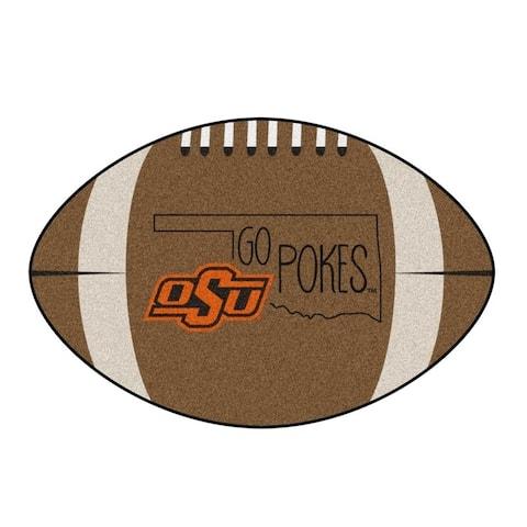 "Oklahoma State Southern Style Football Rug 20.5""x32.5"""
