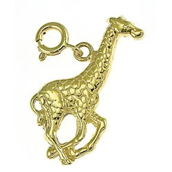 14k Yellow Gold Giraffe Charm
