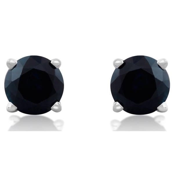 c92c2b2802d74 Shop 14k White Gold Blue Sapphire Stud Earrings - On Sale - Free ...