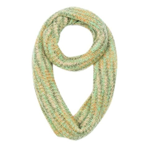 Peach Couture Noro Striped Winter Infinity Loop Cozy Cowl Scarves