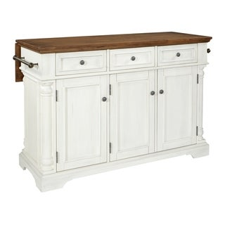 OSP Home Furnishings Cocina Kitchen Island with Wood  Drop Leaf Top