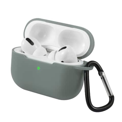 For AirPods Pro Case Silicone Protective Cover Skin with Keychain for Apple Airpod Pro 3 2019 by Insten