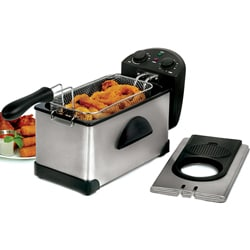 Electric 3.5-quart Stainless Steel Deep Fryer