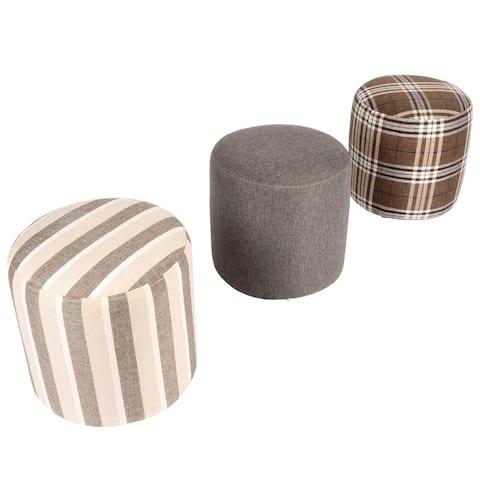 CO-Z Fabric Upholstered Pouf Ottoman