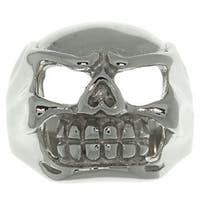 Carolina Glamour Collection Stainless Steel Large Skull Ring