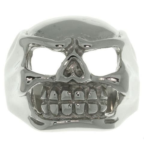 Stainless Steel Large Skull Ring