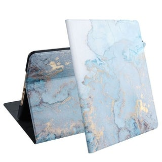 "Link to Insten MyJacket Marble Book-Style Leather Fabric w/stand For Apple iPad 10.2"" (2019) - Blue Similar Items in iPad & Tablet Accessories"