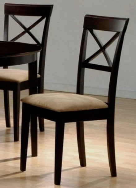 Hardwood Cross Back Dining Chairs (Set of 2)