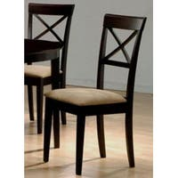 Hardwood Cross Back Dining Chairs (Set of 2)