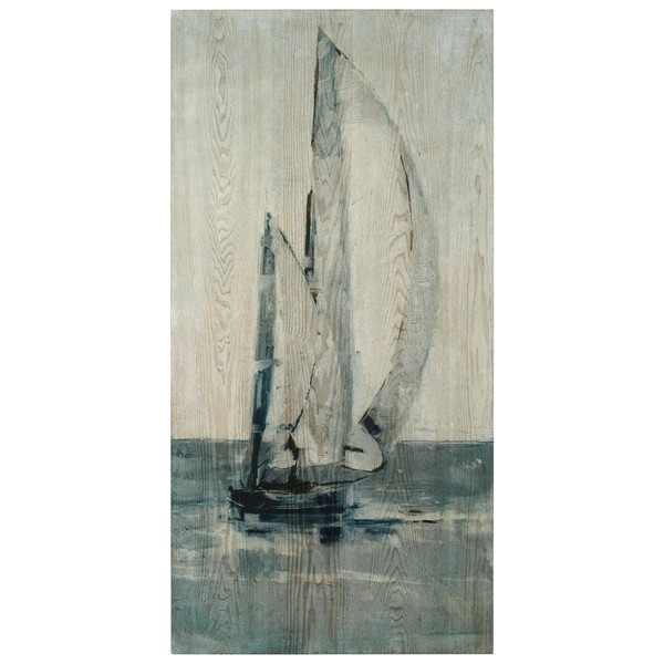 Sea & Sailboat Wall Art Giclee Printed on Hand Finished Ash Wood. Opens flyout.