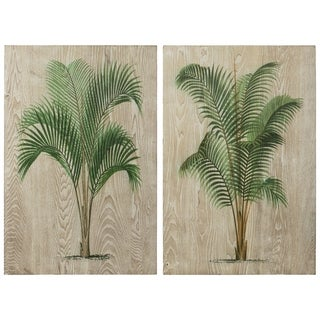 Link to Coastal Palm Fine on Hand Finished Ash Wood Wall Art - Diptych Set Similar Items in Wood Wall Art