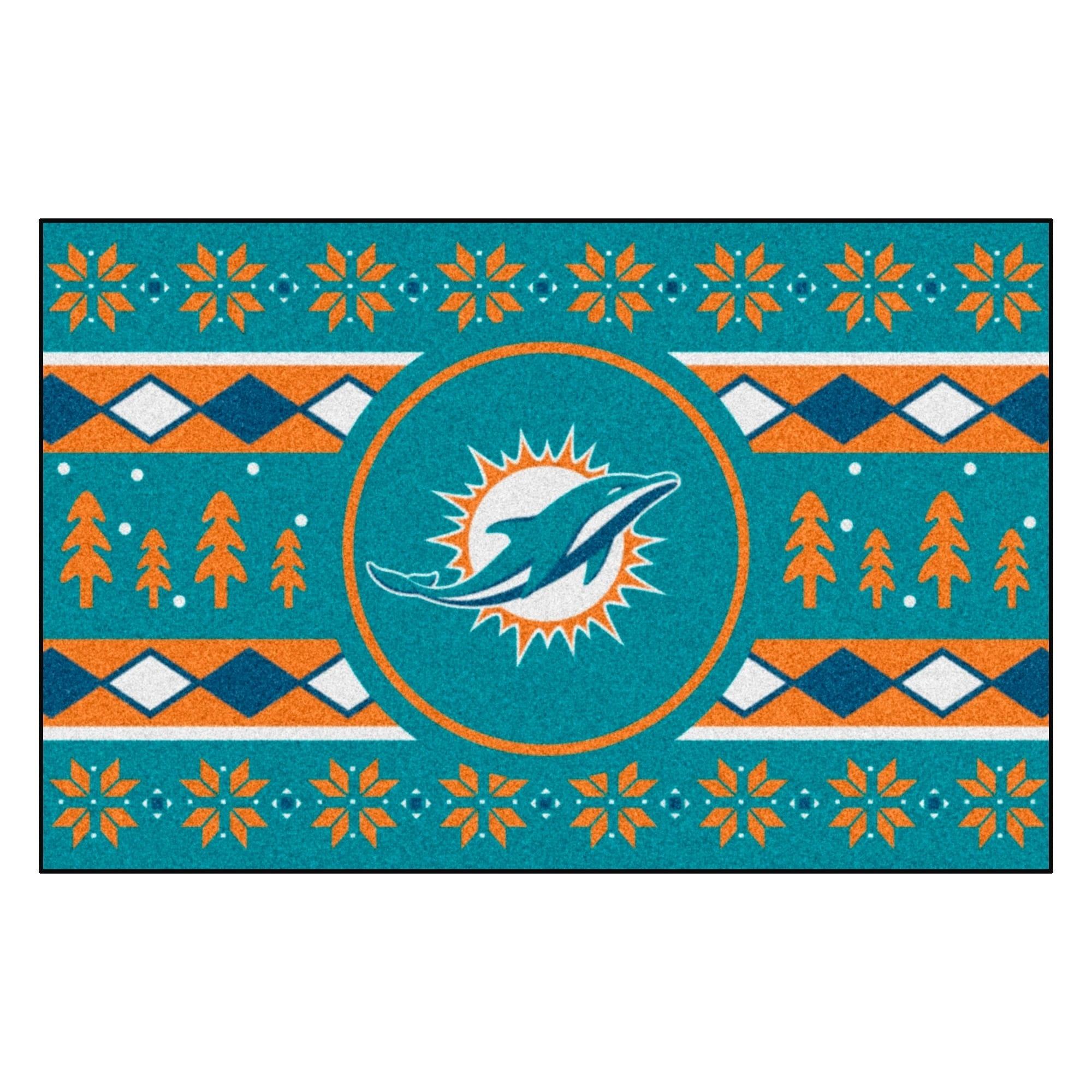 FANMATS NFL Miami Dolphins Vinyl Door Mat
