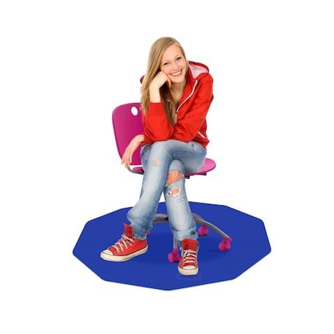 "CraftTex® 9Mat Blue Floor Protector for Carpet - 38"" x 39"""