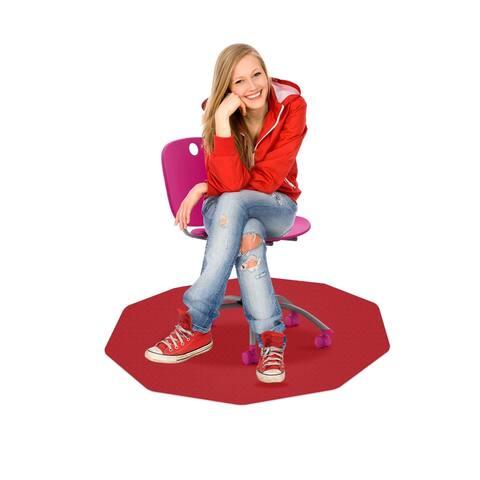 """CraftTex® 9Mat Pink Floor Protector for Hard Floor - 38"""" x 39"""""""
