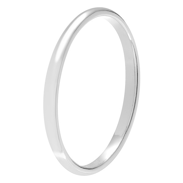 Sterling Silver High-polish Ring Band 2MM