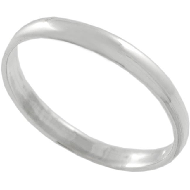 Sterling Silver High-polish Ring Band 2MM - Thumbnail 0