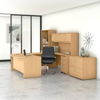 Studio C 72W U Shaped Desk and Chair Set by Bush Business Furniture