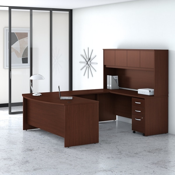 Studio C 72W U Desk with Hutch and Drawers by Bush Business Furniture