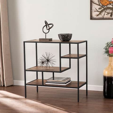 Carbon Loft Mathers Industrial Reclaimed Wood Bookcase Etagere