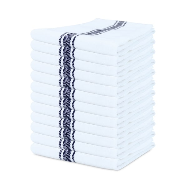Porch & Den Bowker Herringbone Cotton Kitchen Towels (Set of 12) - 15 x 25 in.. Opens flyout.