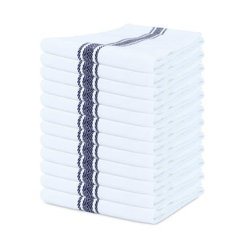 Porch & Den Bowker Herringbone Cotton Kitchen Towels (Set of 12) - 15 x 25 in.