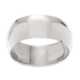 Journee Collection Sterling Silver 8MM Domed Women's Ring