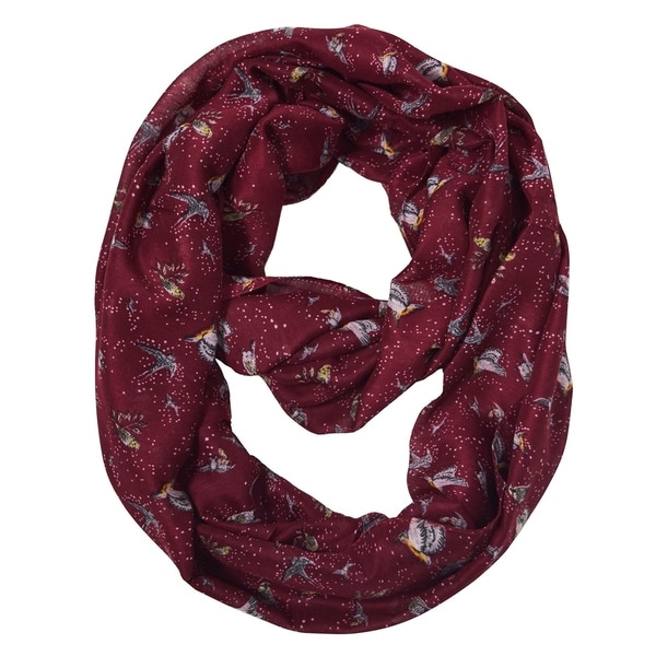 Sheer Bird Print Scarves For Women Infinity Scarf Circle Loops. Opens flyout.