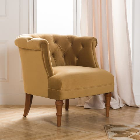 Copper Grove Sofia Glam Velvet Tufted Accent Chair