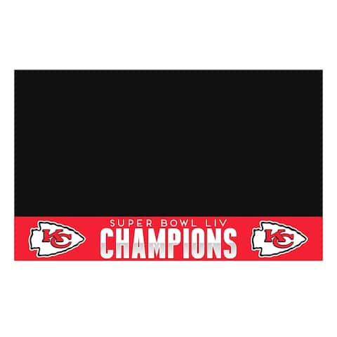 "Kansas City Chiefs Super Bowl LIV Champions Vinyl Grill Mat 26"" x 42"""