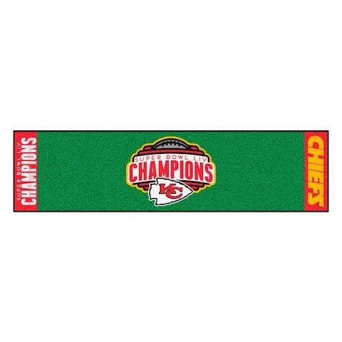 Kansas City Chiefs Super Bowl LIV Champions Putting Green Mat 1.5 ft. x 6 ft.