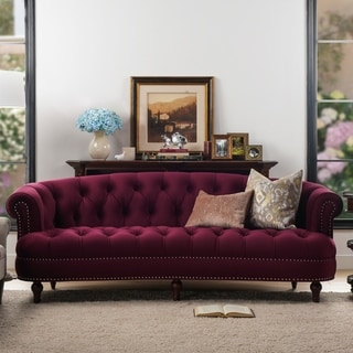 Silver Orchid Barcelona Velvet Tufted Chesterfield Sofa