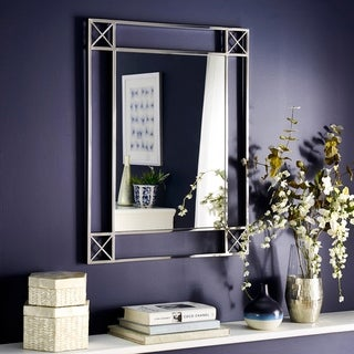 Melrose Chrome Rectangular Wall Mirror by iNSPIRE Q Bold