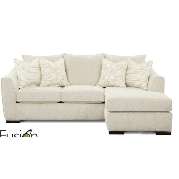 Vibrant Vision Oatmeal Chaise Sofa