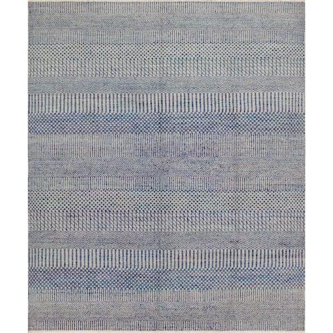 """Noori Rug Fine Oushak Arlyn Grey/Blue Rug - 7'10"""" x 9'4"""""""