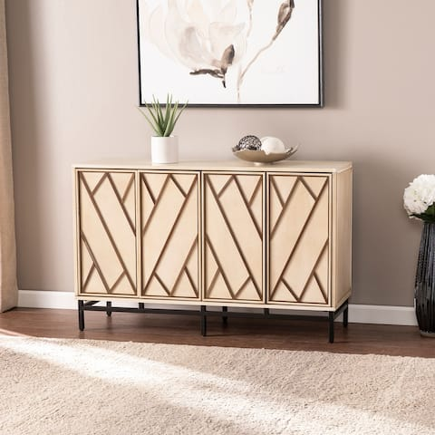 Strick & Bolton Breslin Cream Wood 4 Door Buffet Sideboard
