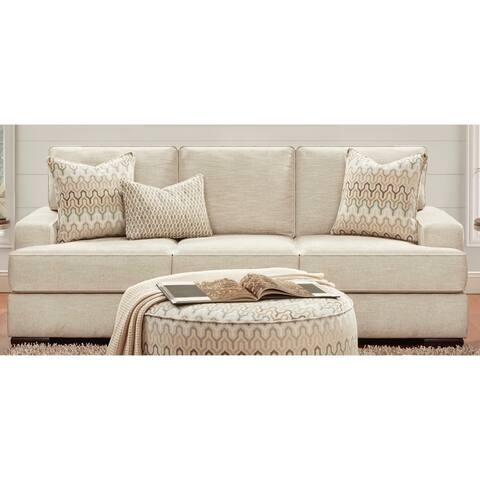 Handwoven Parchment Stationary Sofa