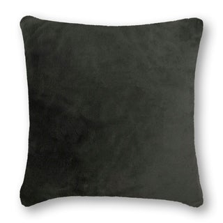 Link to Olivia Quido Lux Grey Luxury Faux Fur 24-inch Pillow Similar Items in Decorative Accessories