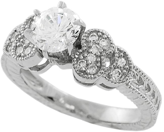 Journee Collection  Sterling Silver CZ Fashion Design Ring