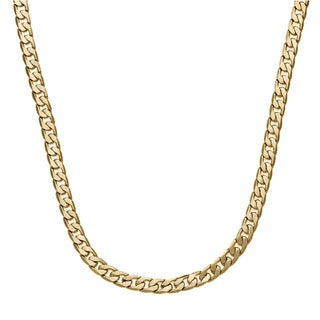 Simon Frank Designs 7mm 20-Inch Cuban Silver or Gold Overlay Chain  (20-inch)