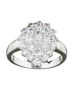 Simon Frank 14k Gold Overlay Diamoness Cluster Cocktail Ring