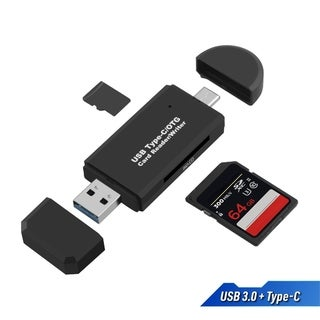 USB Type C SD Card Reader, USB 3.0 TF SD Card Reader OTG Adapter for SDXC, MMC, RS-MMC, Micro SDXC, Micro SD, Micro SDHC Card