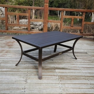 Link to La Jolla Outdoor Aluminum 48x27 Inch Coffee Table Similar Items in Outdoor Coffee & Side Tables
