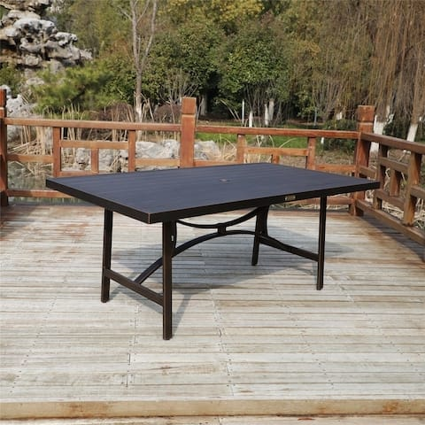 La Jolla Outdoor Aluminum 73x41 Inch Rectangle Dining Table