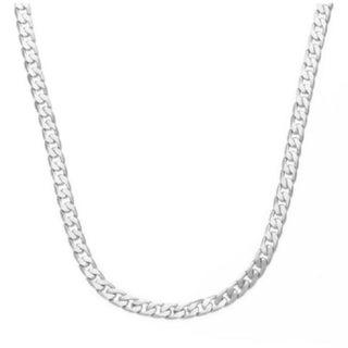 Simon Frank Designs 7mm 30-inch Cuban Silver Overlay Necklace