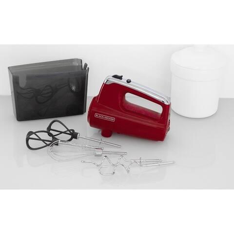 Black & Decker MX600R Helix Performance Premium Hand Mixer - Red