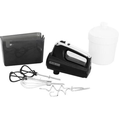Black & Decker MX600B Helix Performance Premium Hand Mixer - Black