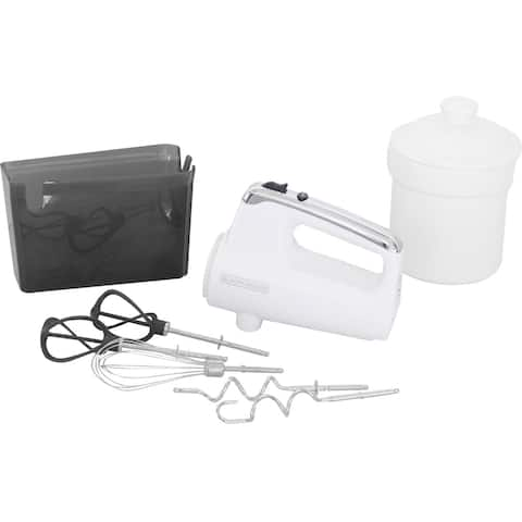 Black & Decker MX600W Helix Performance Premium Hand Mixer - White